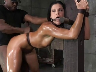 Maledom master tortures tied up slave India Summer BDSM porn