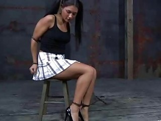 Pretty bitch is ready to get punished BDSM bondage movie