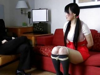 Asian bondage girl gets to know her new master BDSM