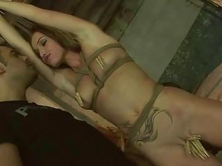 Kathia Nobili gets bondaged and fucked rough by master BDSM