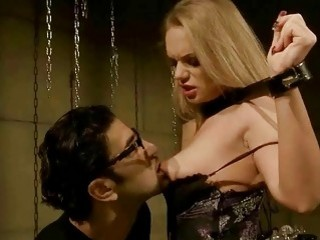 Busty submissive girls love being extremely dominated by hung stud