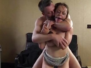 Dominant white dude destroys a girls tight wet cunt hard