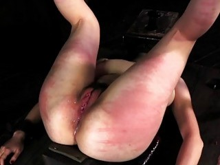 BDSM babe gets her titties tied up and pussy vibrated