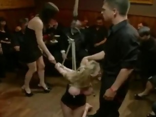 Bent over across the table and fucked by hung dudes
