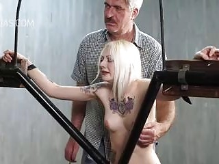 Horny slave girl got her ass red from spanking BDSM