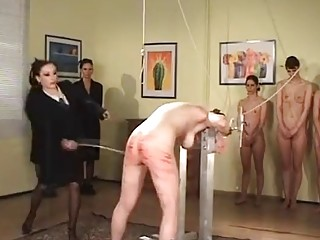Tantalizing mistress enjoys BDSM and femdom with her slave girls