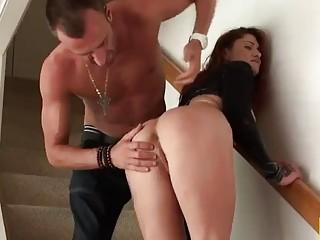 Slutty tattooed naughty girl enjoys BDSM and rough anal fuck