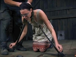 Slave girl loves to be roughen up by master BDSM