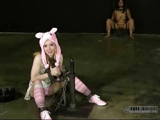 Cute slave slut is ready to receive punishment BDSM movie