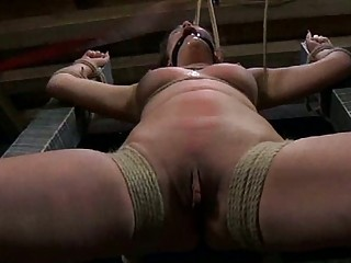 Bound slut gets tied up and dominated by master BDSM