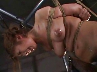 Amateur japanese slaves in electro bdsm and extreme BDSM session