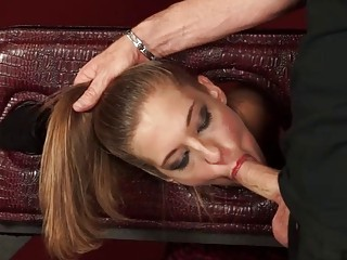 Stimulating chick gets in submission and loves being tortured hard