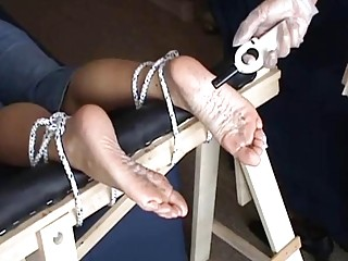 Sexual chick loves getting a punishment in form of feet torture
