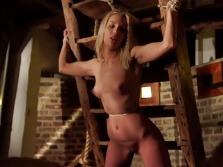 Sexy bondage slut fuck and get candle waxed BDSM porn