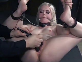 Hot blonde Dresden tied up and toyed by master BDSM