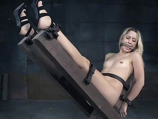 Hot Goldie Rush and Endza Adair bound and toyed BDSM