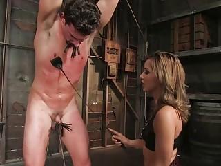 Femdom mistress whips and toys her slave BDSM fetish porn