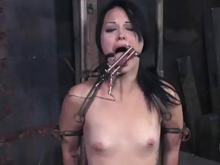 Tied up chick CeCe Larue spanked by kinky master BDSM