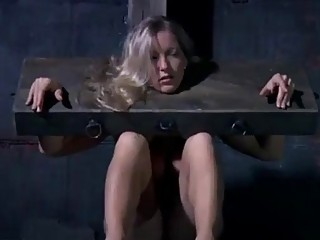 Sub slut Dia Zerva tortured on the bondage device BDSM