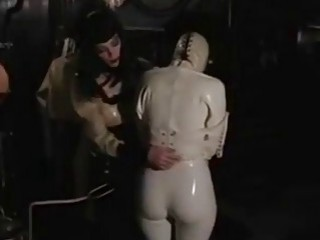 Poor helpless slave receives hard molestation from freaky mistress BDSM