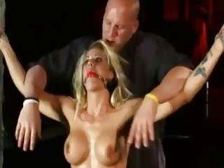 Blonde slut Holly Heart tied up and anally dominated BDSM