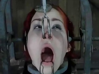 Restrained sub slut Calico Lane receives painful torture BDSM porn