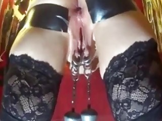 Amateur submissive wife gets pussy tortured by hubby master BDSM