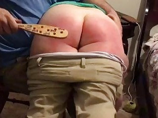 Bare bottom roasted until it turns red BDSM spanking porn
