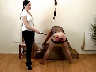 Sissy slave plays a whipping game with mistress BDSM porn