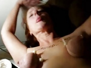 Slave fucked hard while having tits tied up BDSM porn