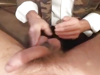 Hairy guy cock tortured and ball busted by BDSM mistress
