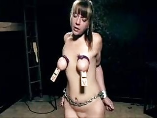 Tied up bimbo pussy toyed and tortured by BDSM master