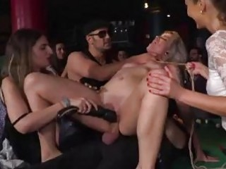 Disgraced slut humiliated and fucked in public BDSM fetish porn