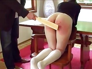 Young schoolgirl gets spanked by the headmaster BDSM fetish porn