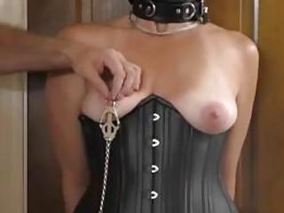 BDSM torture slave Nikki spanked for the first time ever