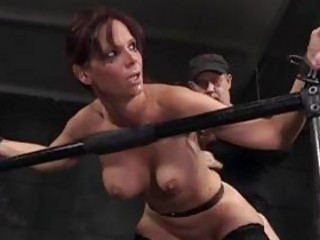 Big ass slave blacked from behind while bound BDSM porn
