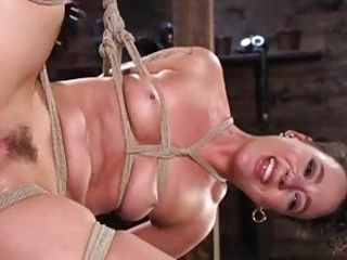 Slave bitch got her pussy destroyed while bound BDSM maledom