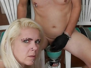 Girl lets dude with cock ring fuck her tight pussy