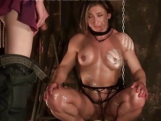 A bunch of girls tied up and fucked real hard