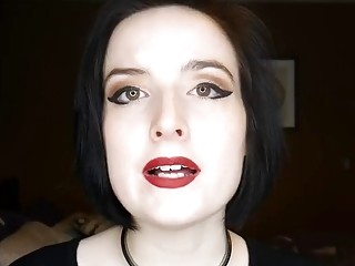 Chick educates you about BDSM while showing her pretty face