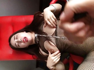 Asian babe with big tits enjoys getting fucked in pussy