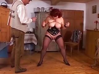 Chubby sluty mature naughty enjoys extreme BDSM and pussy torture