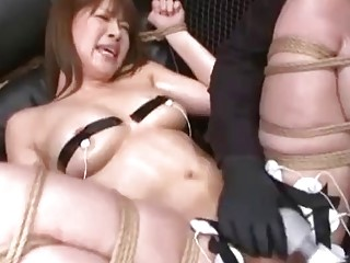 Sluty Asian loves bondage and BDSM games with her master