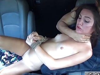 Filthy girl loves hard bondage and gives nasty BDSM blowjob