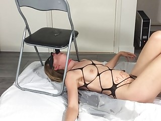 Mother is using adult toys to test her tight ass