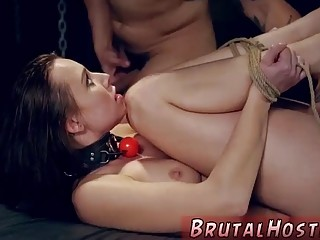 Guy with tats fucks a babe who is completely bound